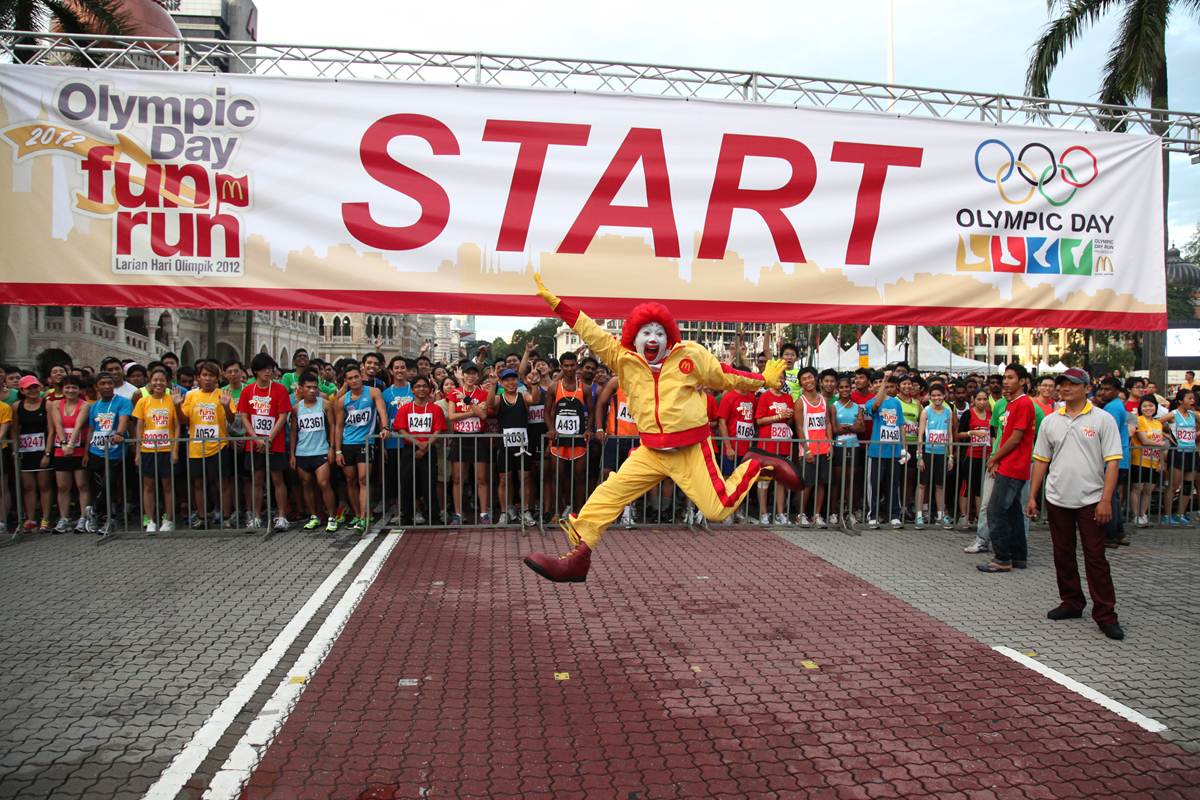 Running: publicidad masiva muy saludable