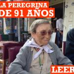 La despedida de Emma, la peregrina de 91 años